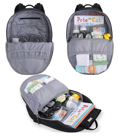 Small Backpack Diaper Bag With Insulated Bottle Pockets