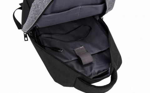 Stylish Men's Business Backpack Interior View