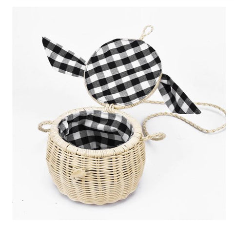 TSB Bamboo Basket Bag - Interior View