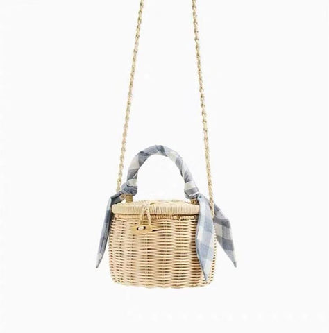 TSB Bamboo Basket Bag - Convertible Design