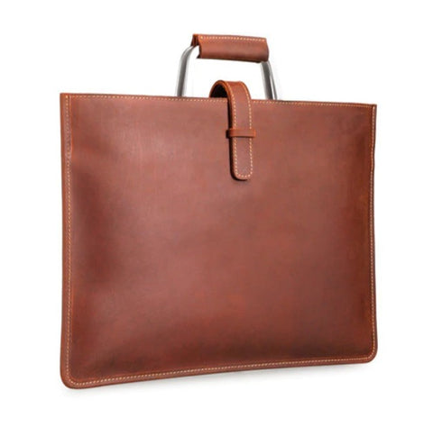 TSB Document Bag Leather - Front View - The Store Bags