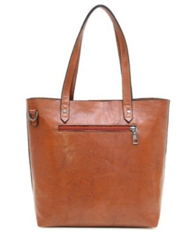 TSB Leather Handbag Blue - Back View - The Store Bags