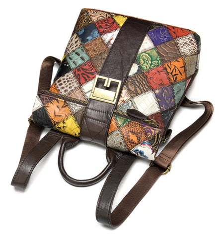 TSB Patchwork Backpack - Top View - The Store Bags
