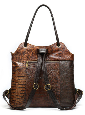 TSB Patchwork Leather Backpack - Back View - The Store Bags