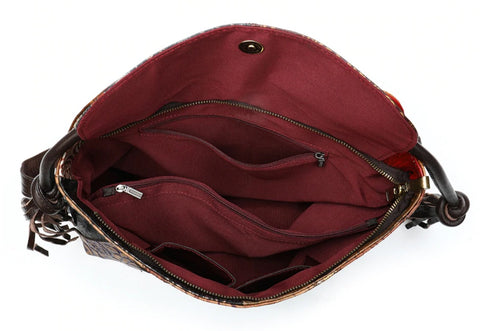TSB Patchwork Leather Backpack - Interior View - The Store Bags