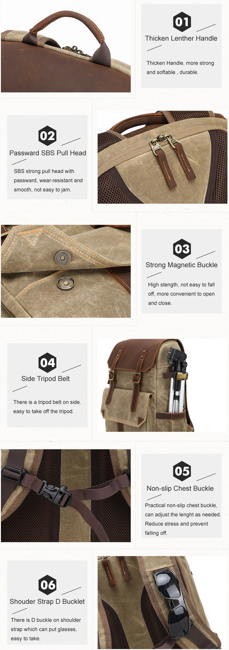 TSB Retro Camera Backpack - Features - The Store Bags
