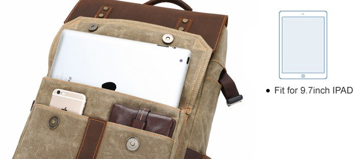 TSB Retro Camera Backpack - Ipad Compartment - The Store Bags