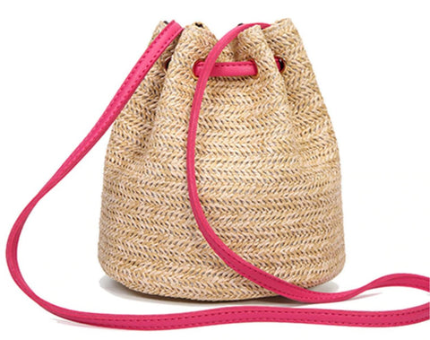 TSB Straw Shoulder Tote - Side View - The Store Bags
