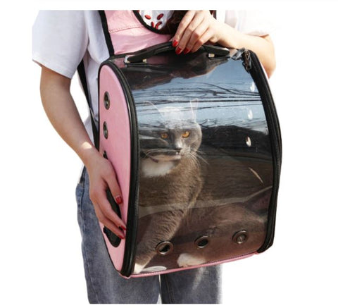 TSB Transparent Cat Backpack - Large Capacity