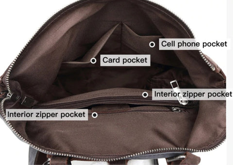 TSB Women's Backpack Without Laptop Sleeve - Interior View - The Store Bags