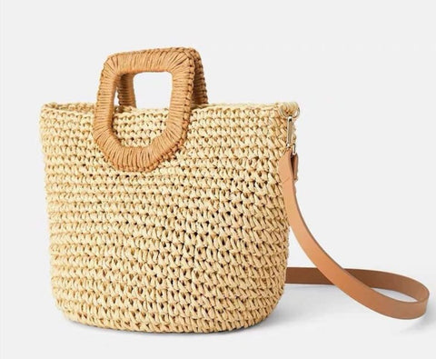TSB Woven Straw Tote Bag - For Women
