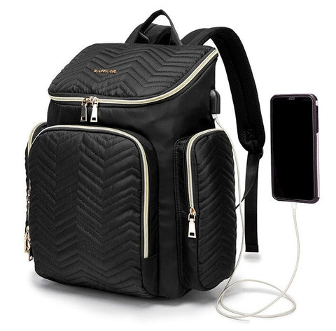 TSB usb diaper backpack - USB Port - The Store Bags