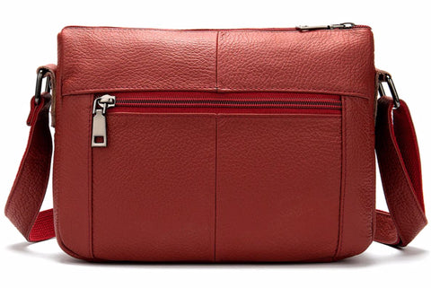 TSB women's crossbody leather messenger bag - back view