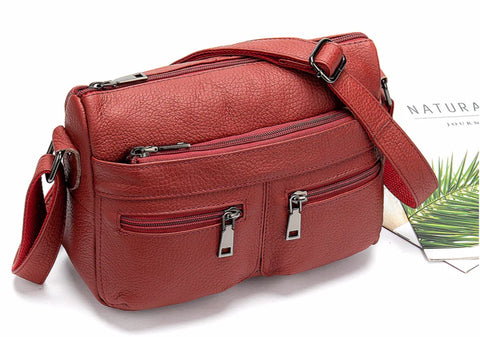 TSB women's crossbody leather messenger bag