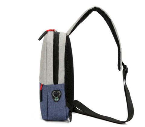 Unisex Crossbody Sling Bag Earphone Slot