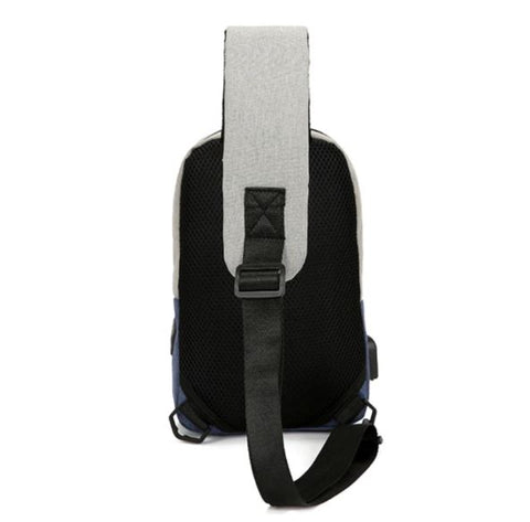 Unisex Crossbody Sling Bag Padded Straps