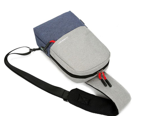 Unisex Crossbody Sling Bag USB Port