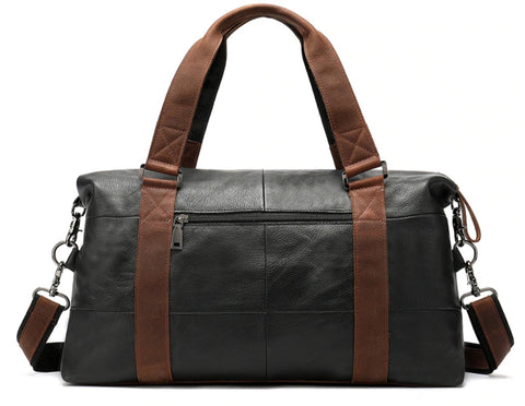WESTAL Men's Overnight Bag Leather - Back View - The Store Bags
