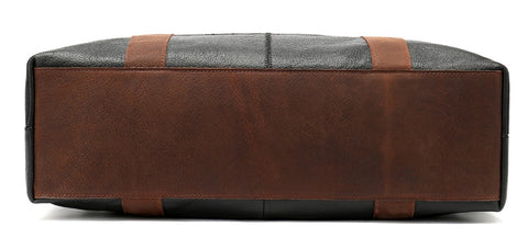WESTAL Men's Overnight Bag Leather - Bottom View - The Store Bags