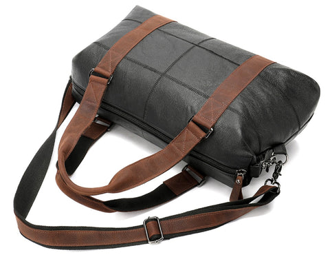 WESTAL Men's Overnight Bag Leather - Top View - The Store Bags