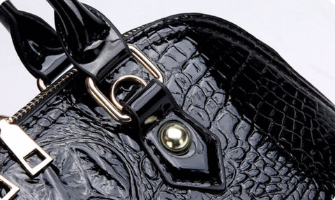 Women's Faux Crocodile Leather Bag - Premium Materials V2