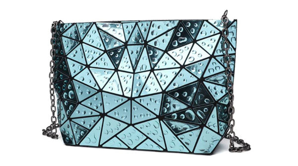 hologram women's shoulder bag green front view
