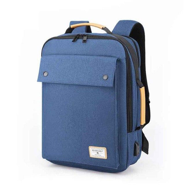 GOLDEN WOLF College Student Backpack The Store Bags Blue
