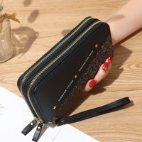 Glitter Wristlet Wallet ERIN The Store Bags Black