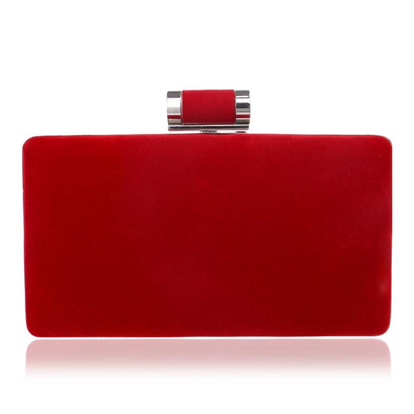 Red Velvet Clutch Bag The Store Bags Red