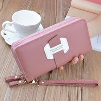 Double Zip Around Wristlet Wallet ERIN The Store Bags Pink