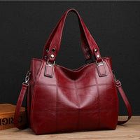 Large Red Leather Tote Bag ERIN The Store Bags