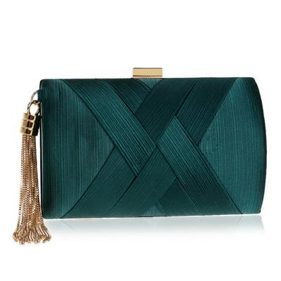 Emerald Green Satin Clutch ERIN The Store Bags Green