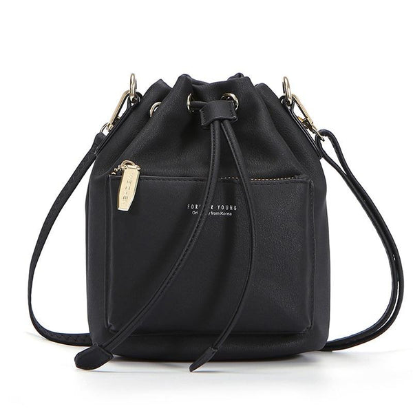Drawstring Bag With Zipper Pocket ERIN
