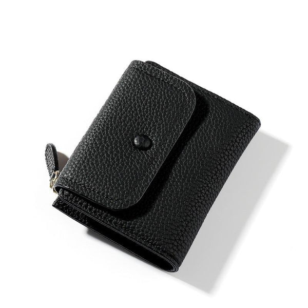 Small Women's Wallet With Coin Pocket ERIN The Store Bags Black