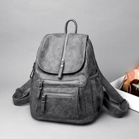 Grey Leather Backpack Womens ERIN The Store Bags