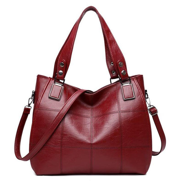 Large Red Leather Tote Bag ERIN The Store Bags Red