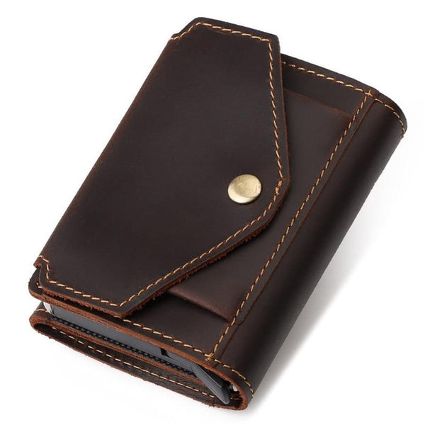 Leather Wallet With Coin Pocket ERIN The Store Bags Brown