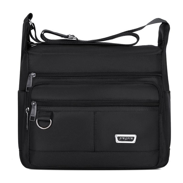 Black Messenger Crossbody Bag ERIN