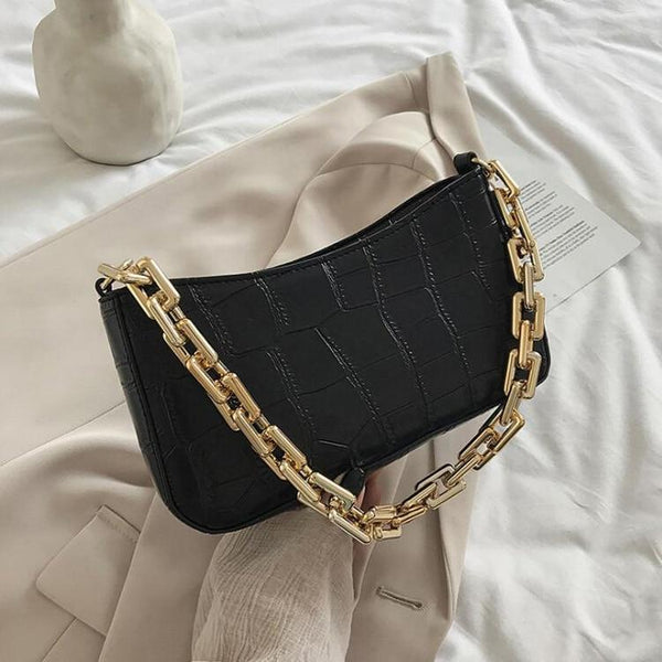 Baguette Bag With Chain Strap ERIN The Store Bags Black