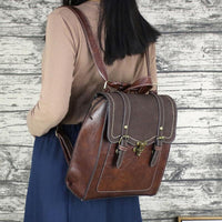 Vintage Faux Leather Backpack ERIN The Store Bags
