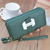 Double Zip Around Wristlet Wallet ERIN The Store Bags Green