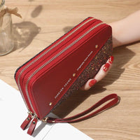 Glitter Wristlet Wallet ERIN The Store Bags Red