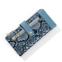 Snakeskin Bifold Wallet ERIN The Store Bags Blue