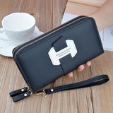 Double Zip Around Wristlet Wallet ERIN The Store Bags Black