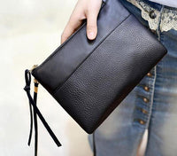 Black Leather Wristlet Wallet ERIN The Store Bags