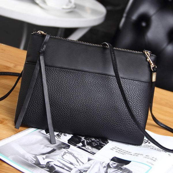 Black Leather Wristlet Wallet ERIN The Store Bags Black