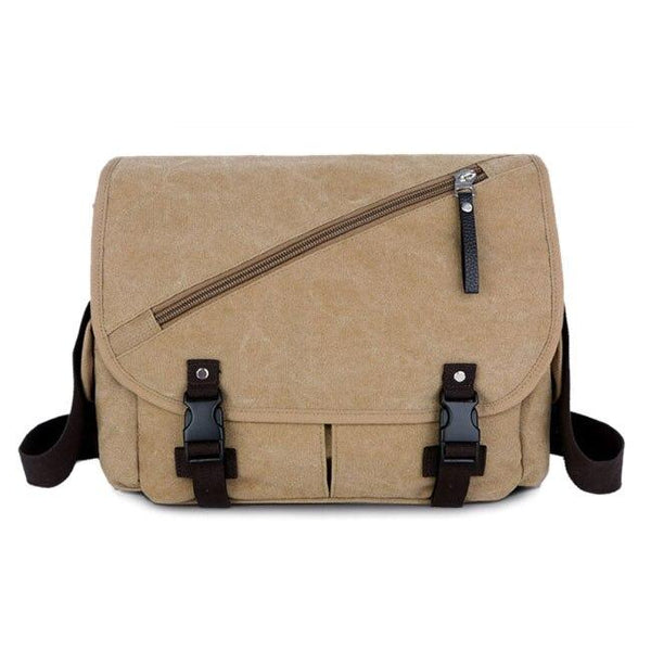 Messenger Bag With Seat Belt Buckle RUOVA The Store Bags Khaki