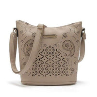Boho Leather Tote ERIN The Store Bags Apricot