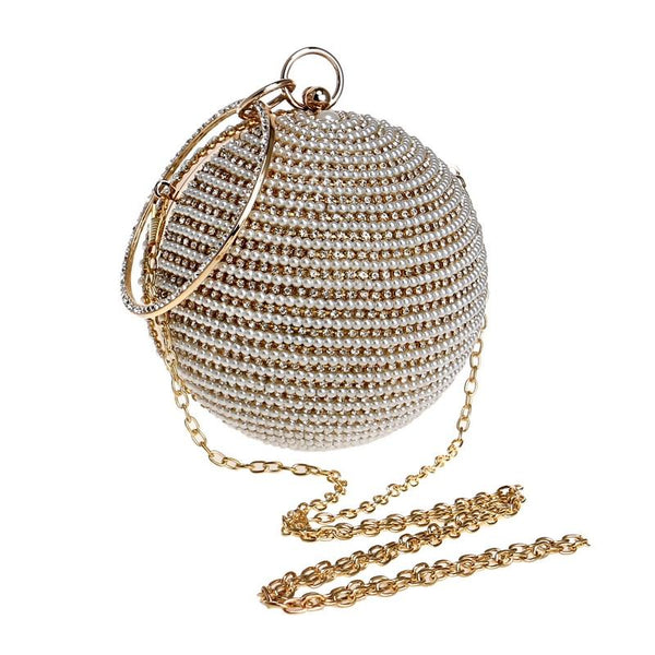 Round Gold Clutch Bag ERIN The Store Bags