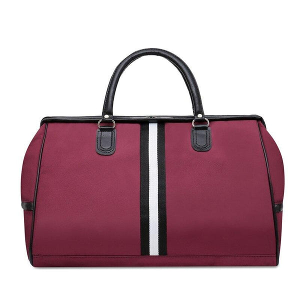 RUOVA Striped Fitness Bag The Store Bags Wine Red